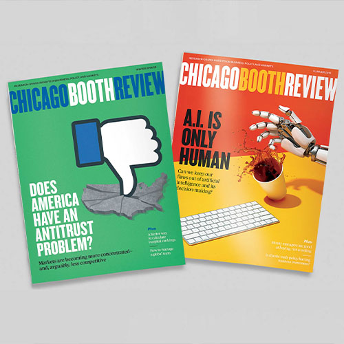 Chicago Booth Review covers