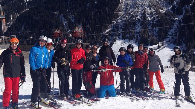 Alumni in Austria for Chicago Booth Goes Skiing