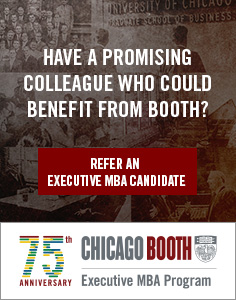 75th Anniversary Executive MBA Booth