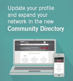 Update your profile and expand your network in the new Community Directory