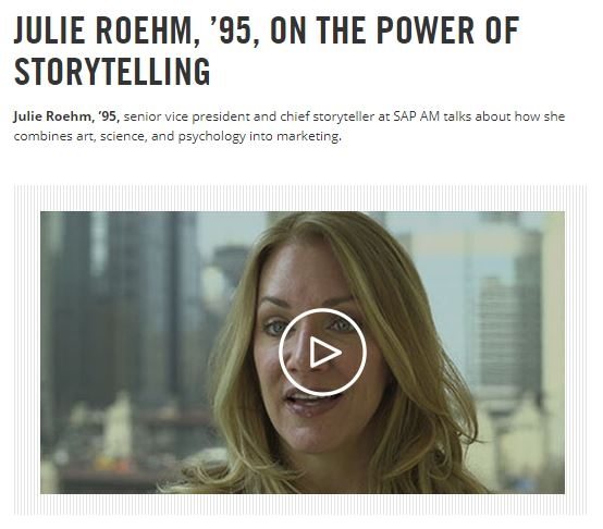Screenshot of Julie Roehm video