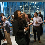 MBA students at a diversity reception