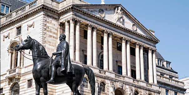 Duke of Wellington statue and Bank of England