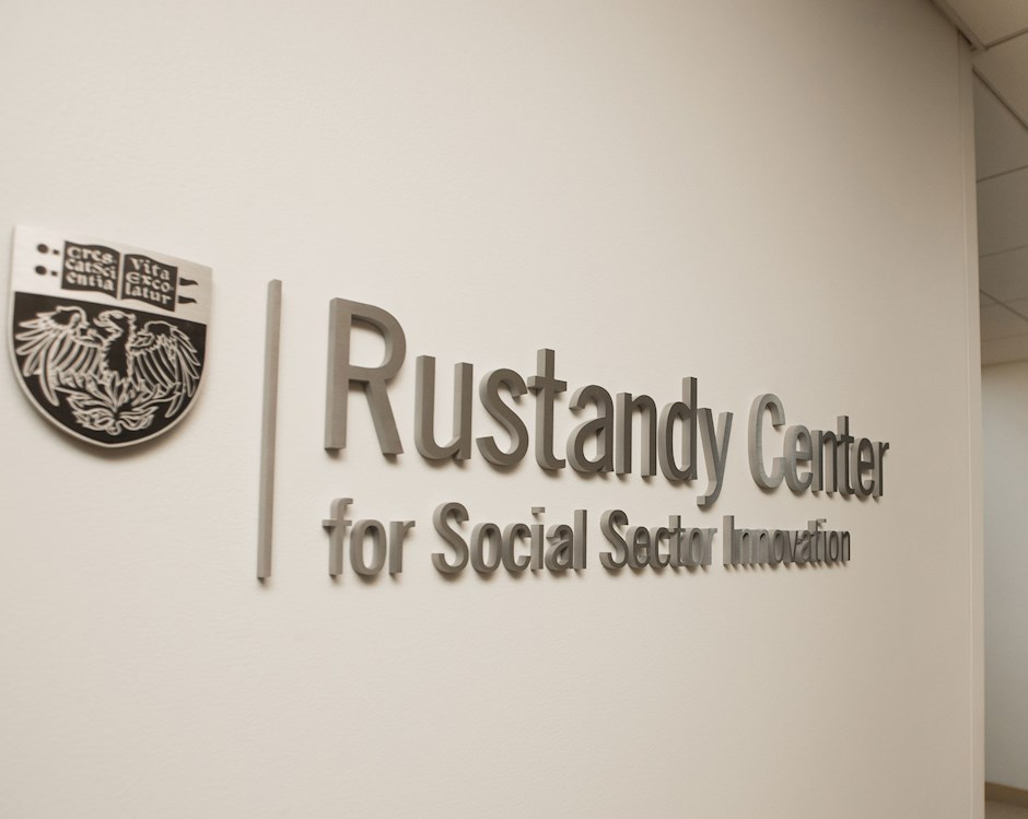 "Sign reading ""Rustandy Center for Social Sector Innovation"""