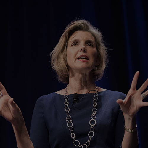 Photo of Sallie Krawcheck presenting