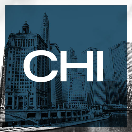 CHI written over city skyline