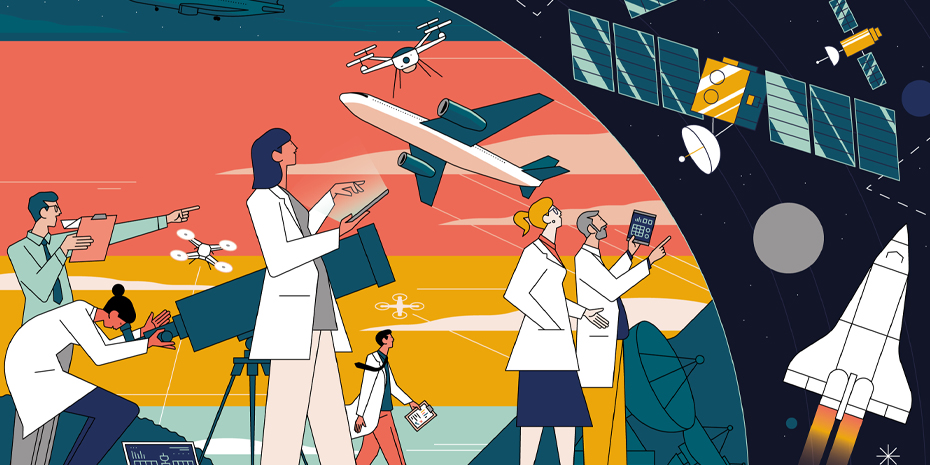 Alumni in Aviation and Aerospace Illustration
