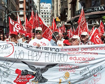 Fall 2015 Features The Survivor Workers Protest In Valencia Spain