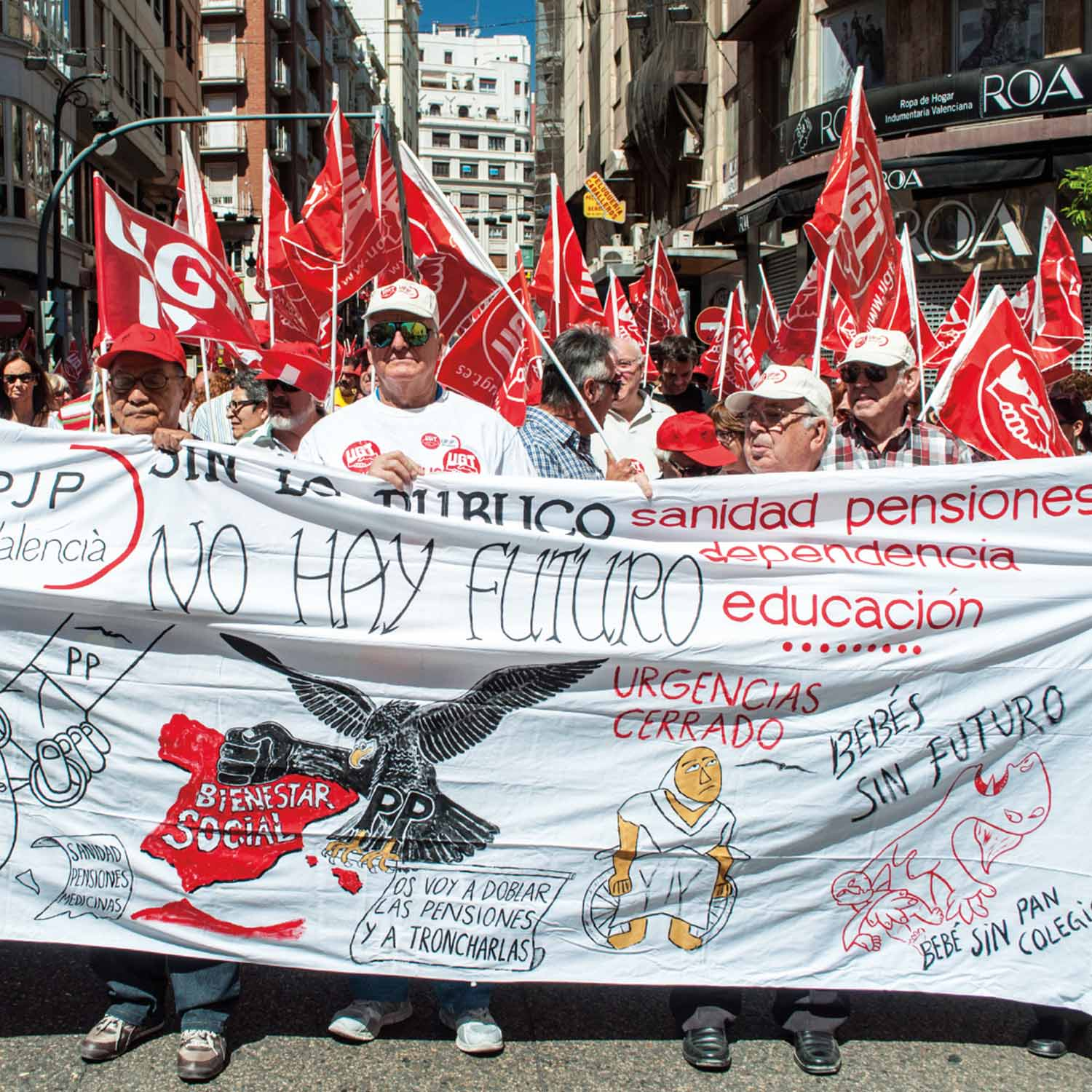 Features The Survivor Workers Protest In Valencia Spain