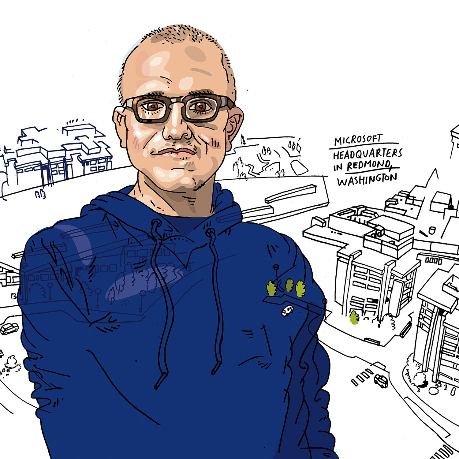 Fall 2015 Perspectives The Book Of Booth Satya Nadella 96 Sunil Kumar Illustration