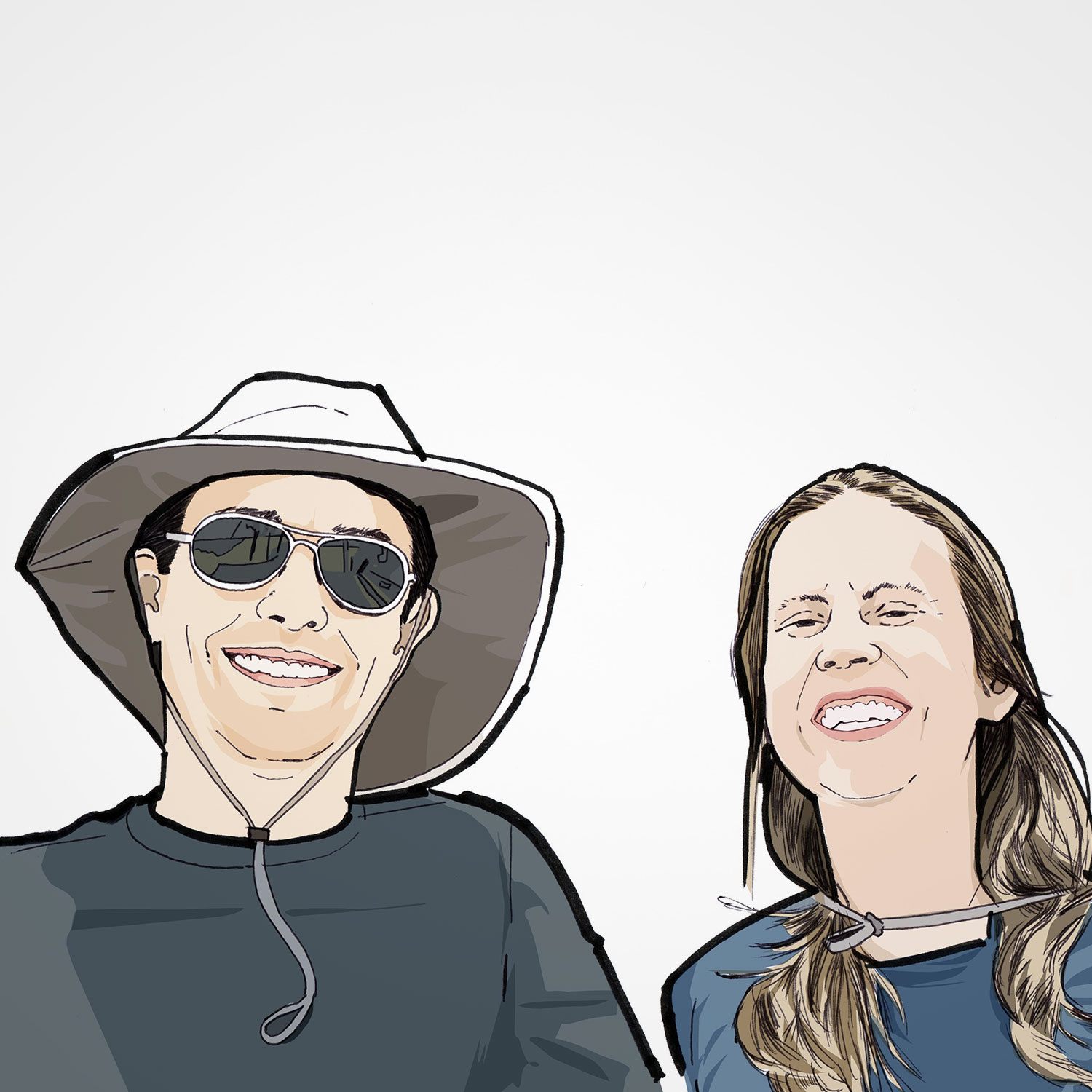 Illustration of Paulo Siqueira and Juliana Armelin