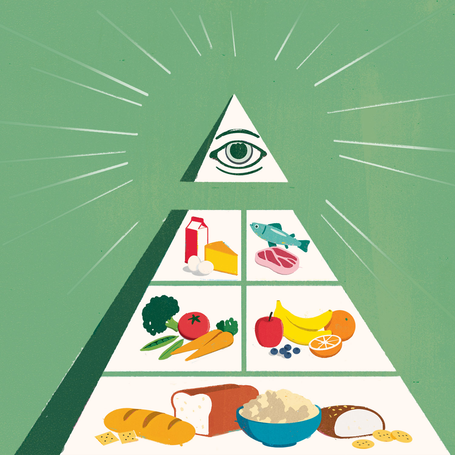 Food Pyramid Illustration