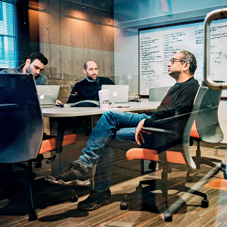 95c46c98e 2 p.m. Senior leadership convenes at Uptake. Photograph by Clayton Hauck