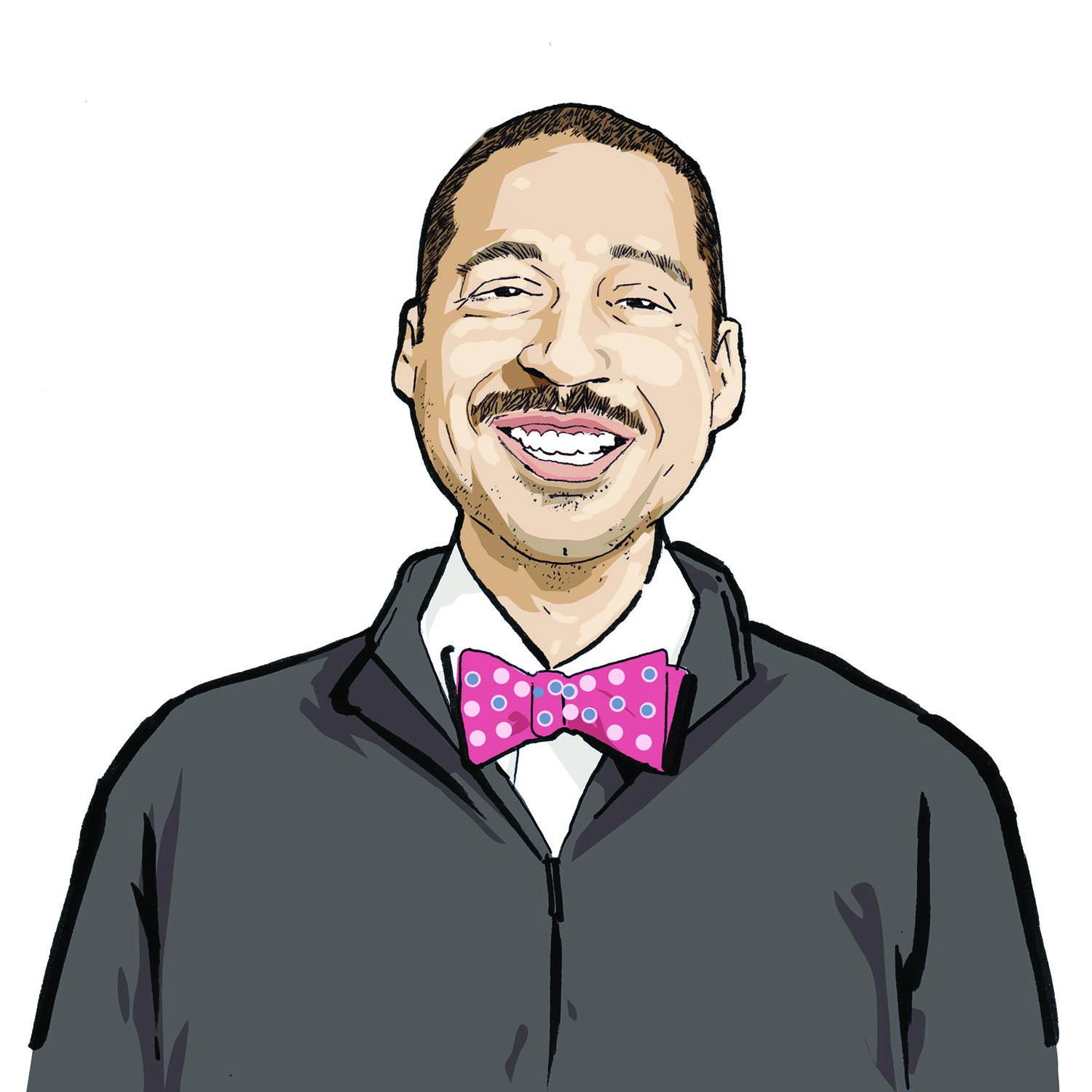 Illustration of Shegan Campbell, '05