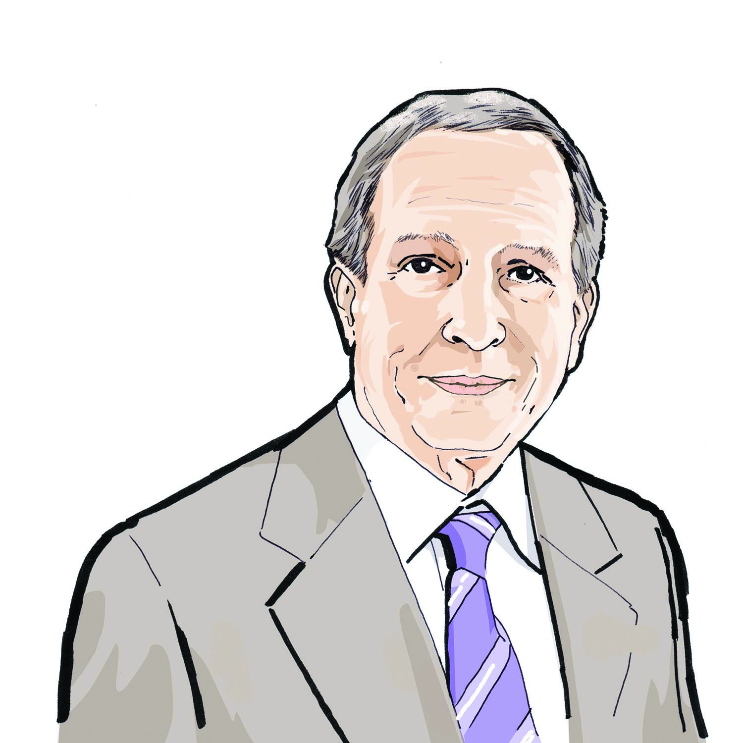 Illustration of Eric Gleacher, '67