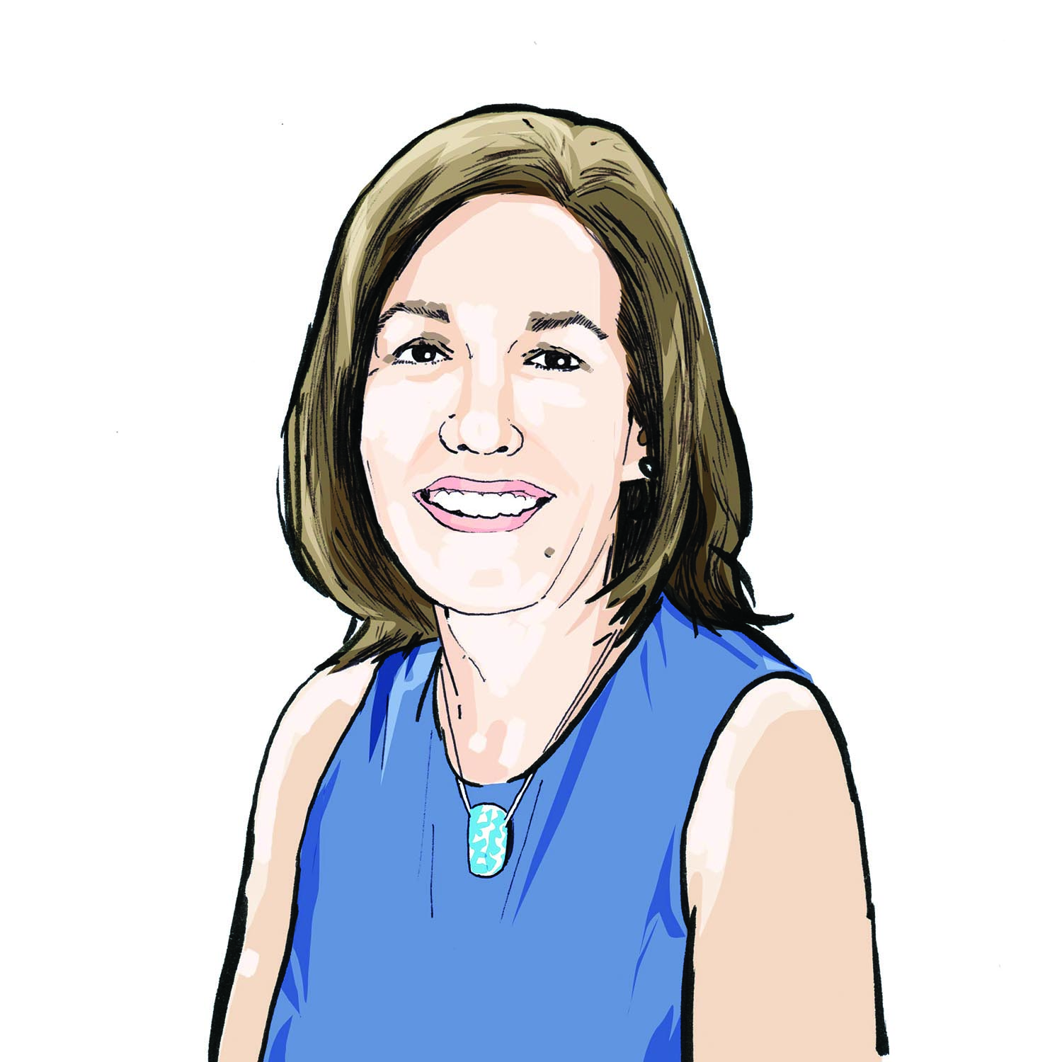 Illustration of Susan Kane, '91