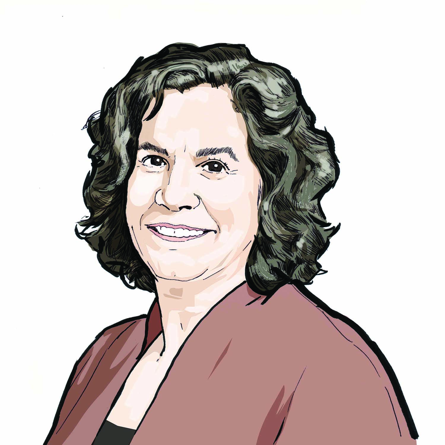 Illustration of Rachel Kohler, '89