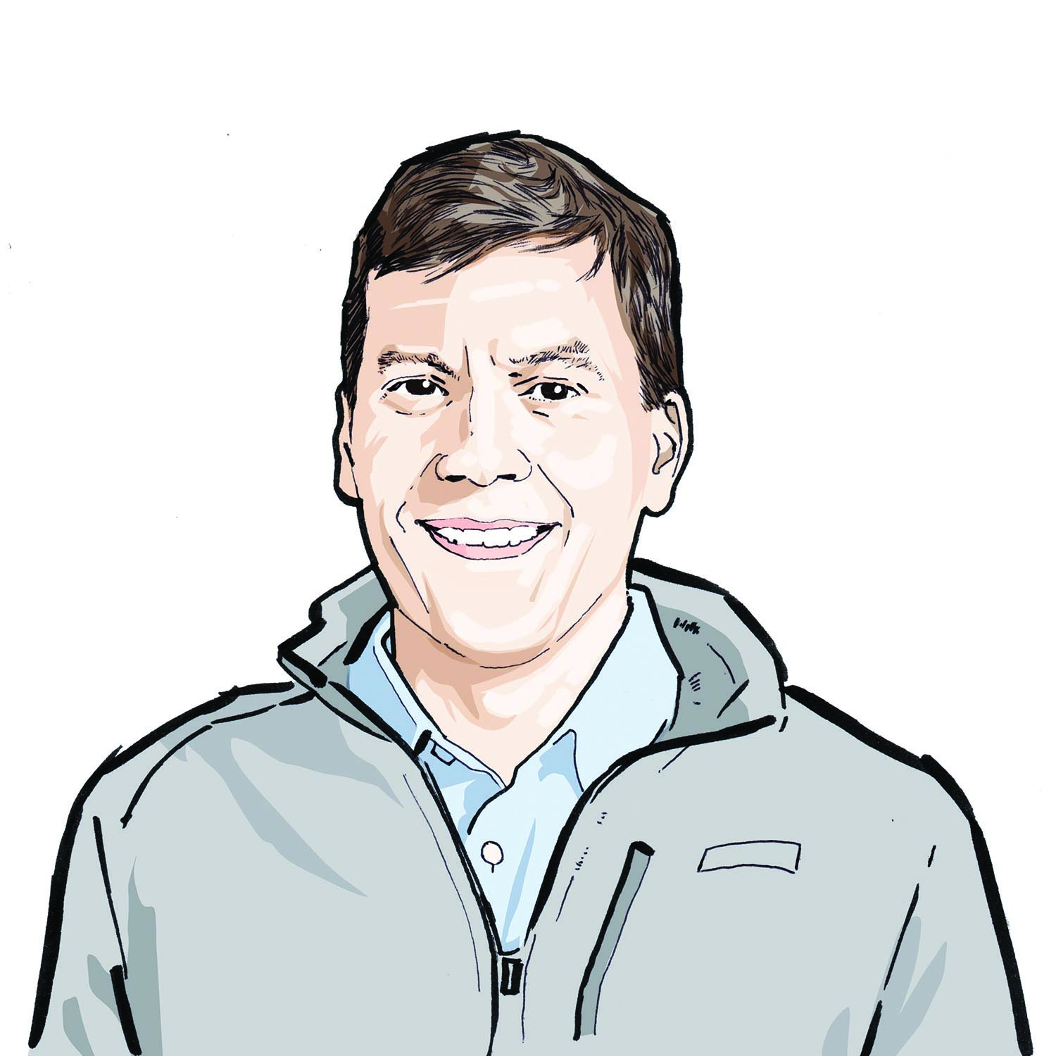 Illustration of Keith Norsym, '05