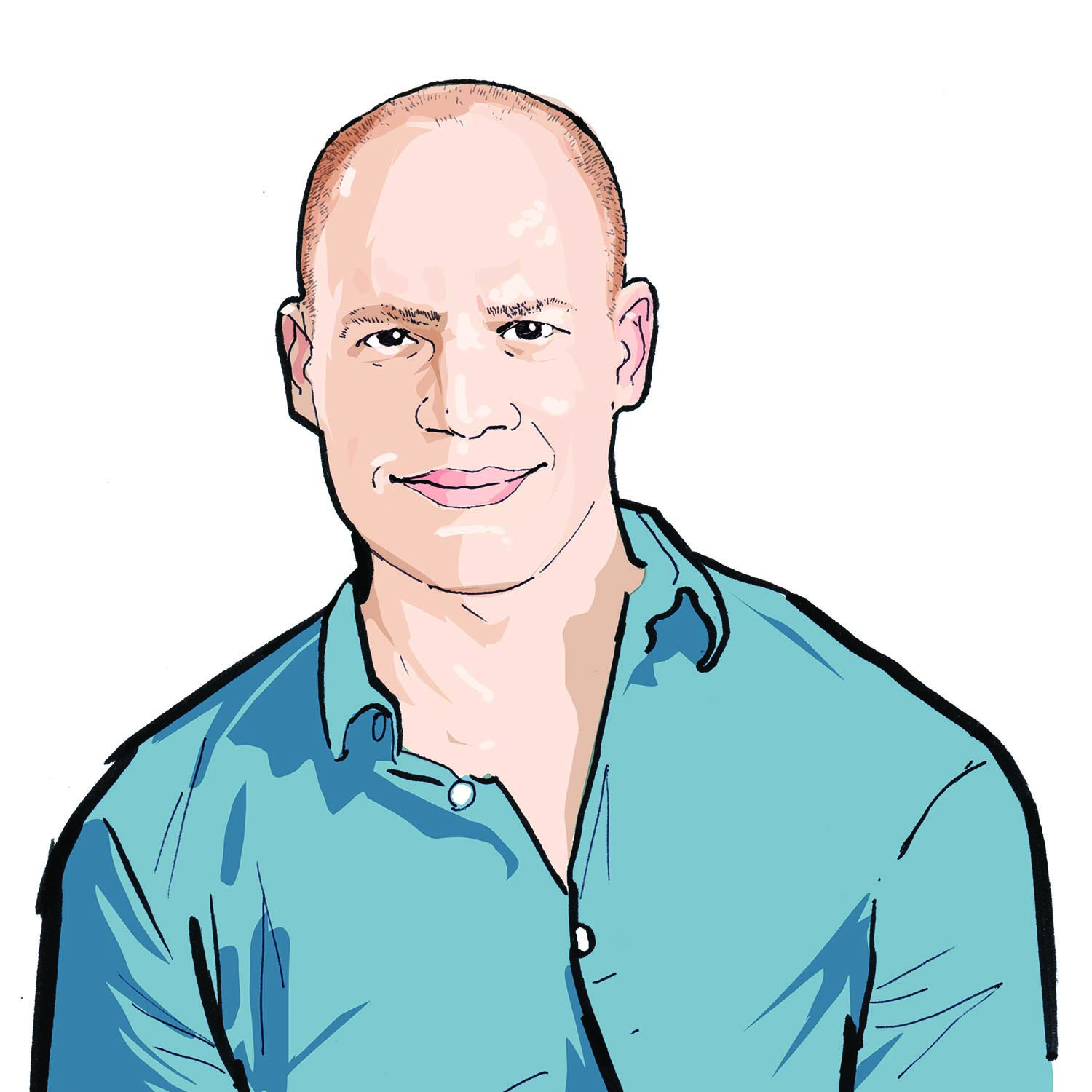Illustration of Robert Parker, '04