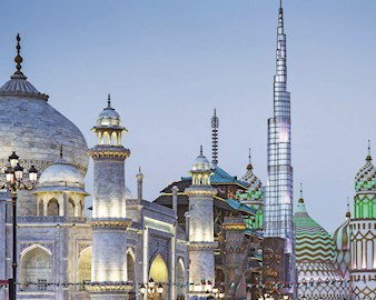 A view of Dubai's Global Village, a tourism, leisure, shopping and entertainment destination