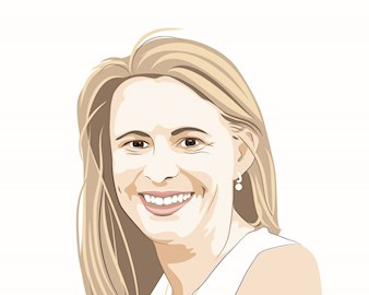 Illustration of Megan Beck, '17