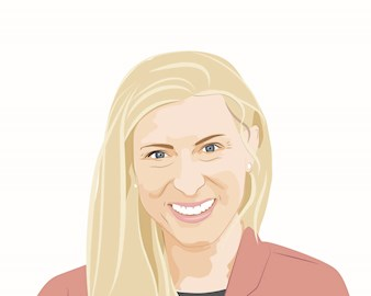 Illustration of Lauren Johnston, '11