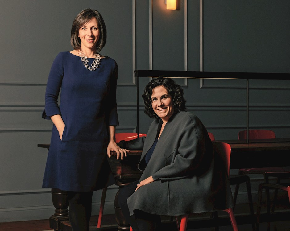 Portrait of Dr. Stacy Tessler Lindau, AM '02 and Rachel Kohler, '89