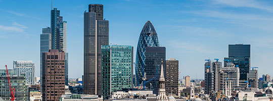 Photo of the London skyline