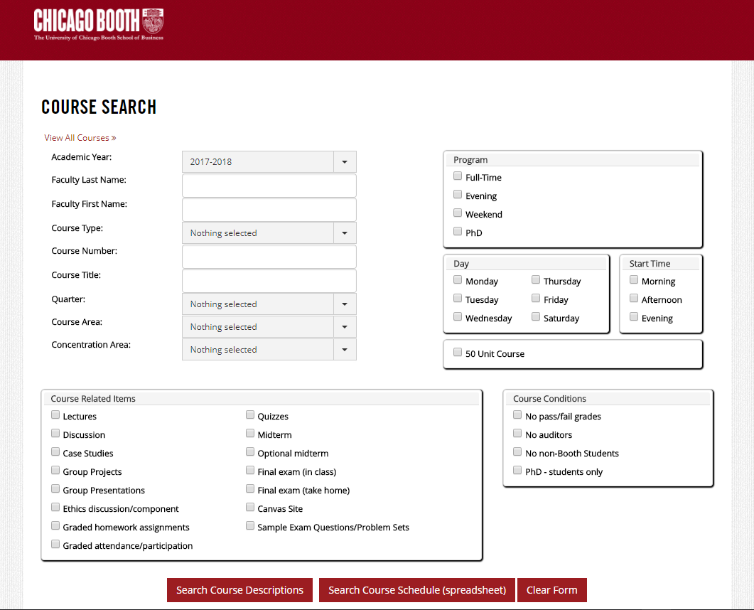 course descriptions the university of chicago booth school of business