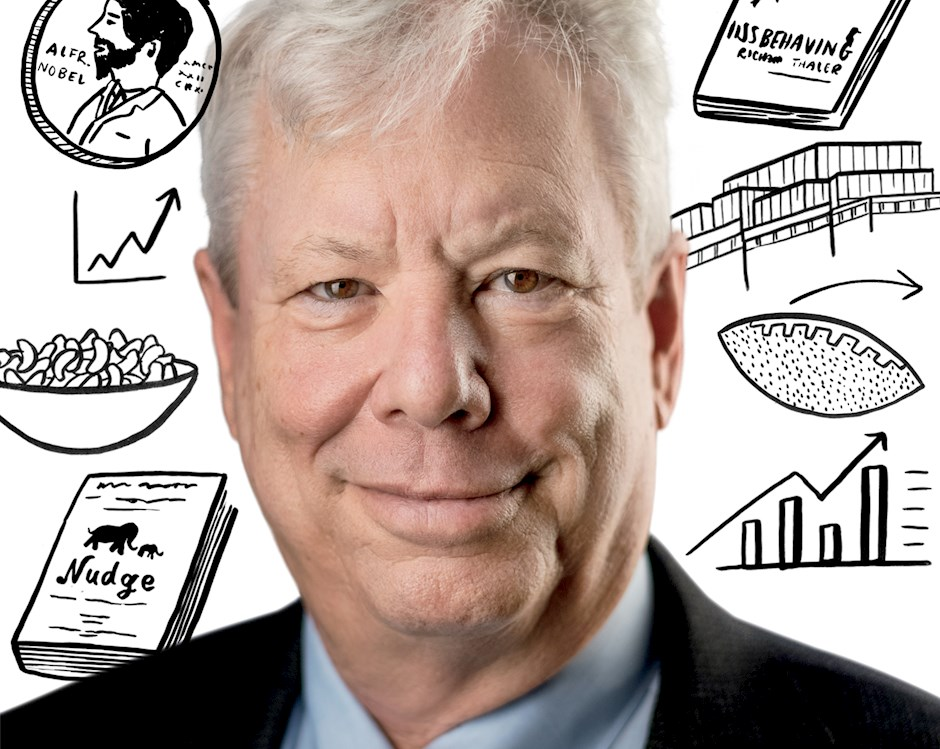 Portrait of Professor Richard Thaler, winner of the Nobel Prize in Economic Sciences
