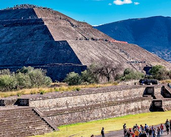 Teotihuacán, a vast archaeological complex that is home to the Pyramid of the Sun