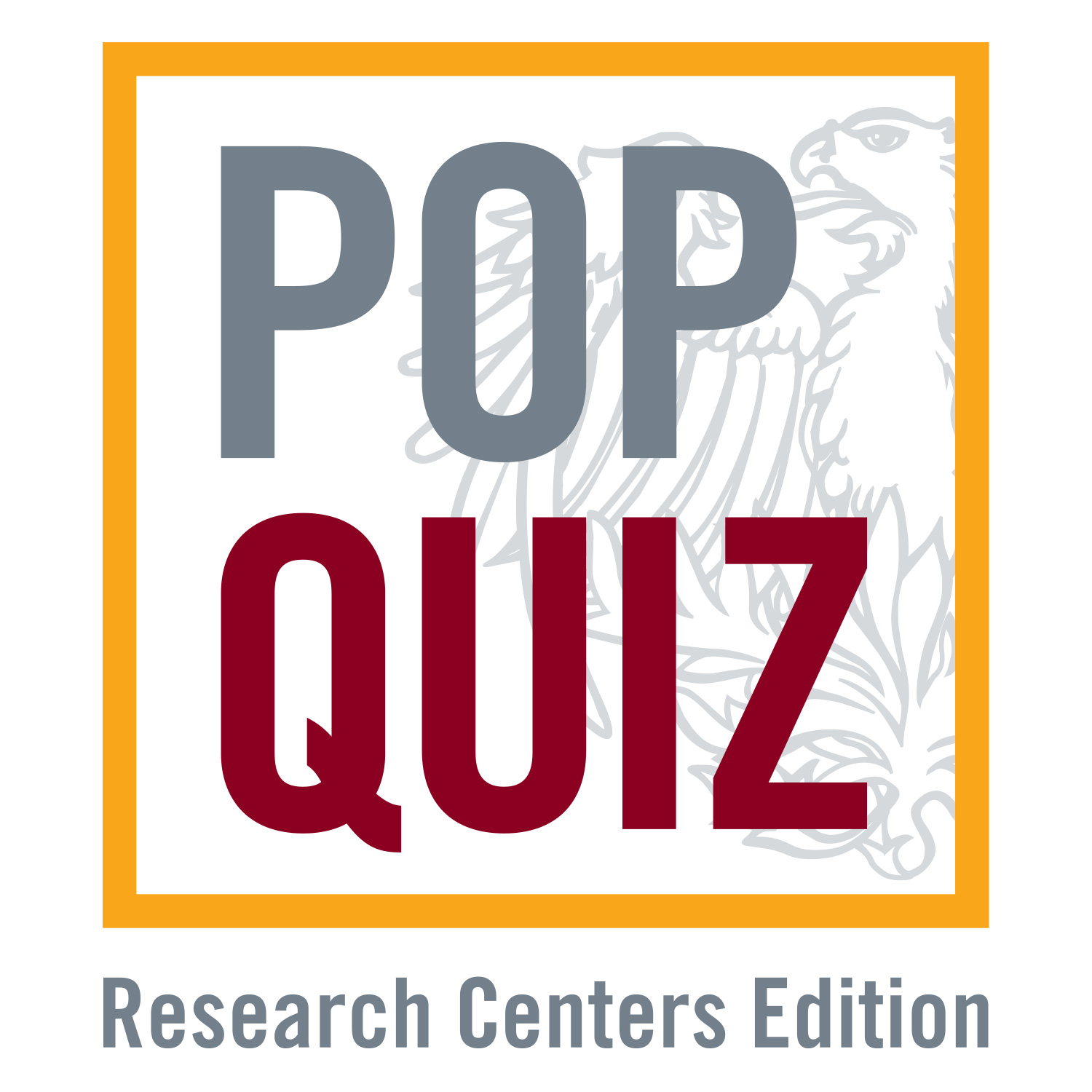 Pop Quiz Research Centers Edition logo