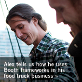 Watch how Alex uses Booth frameworks in his food truck business