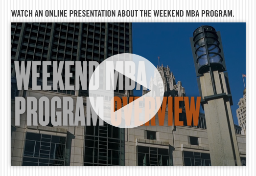 Weekend MBA Program Overview